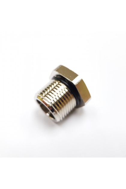 Brass Nickel Plated, NPT Inch Entry, Exe Hex Head Stopping Plug