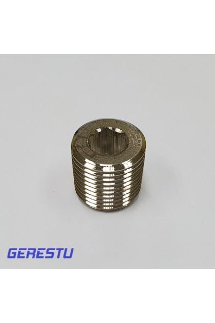 Brass Nickel Plated, NPT Inch Entry of Exd Round Plug