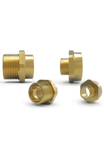 Brass Nickel Plated, Metric Entry of Adaptor/Reducer
